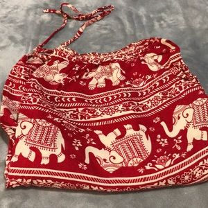 Red Thailand Boho Pants